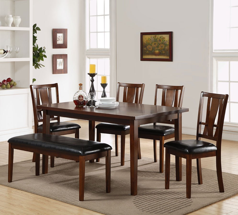 Bench Dining Room Set: Dixon 6-Piece Dining Room Set W/ Bench New Classic