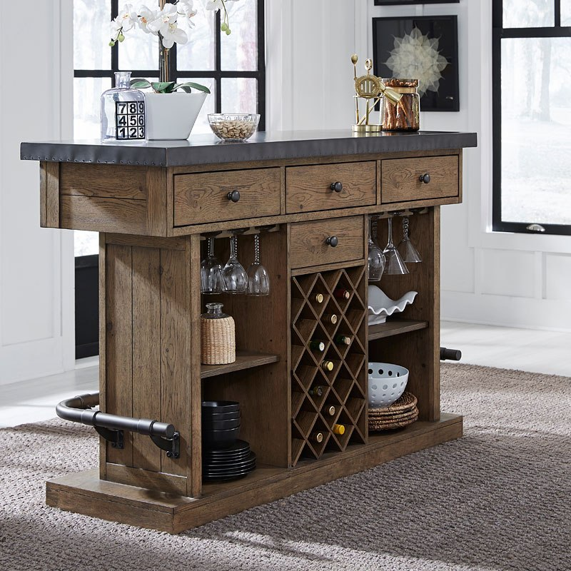 Modern Bar Sets For Home: Modern Authentic Metal Top Bar Accentrics Home