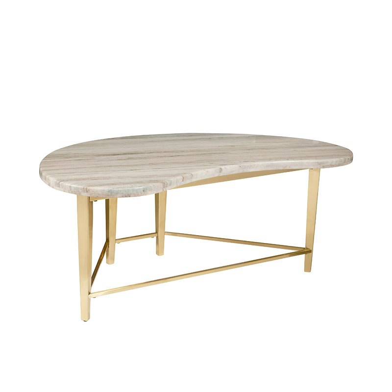 Urban Eclectic Shaped Marble Top Cocktail Table Accentrics Home