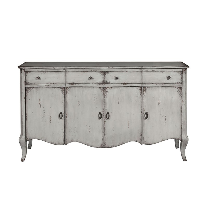 Grey Distressed Two Drawer/ Four Door Credenza