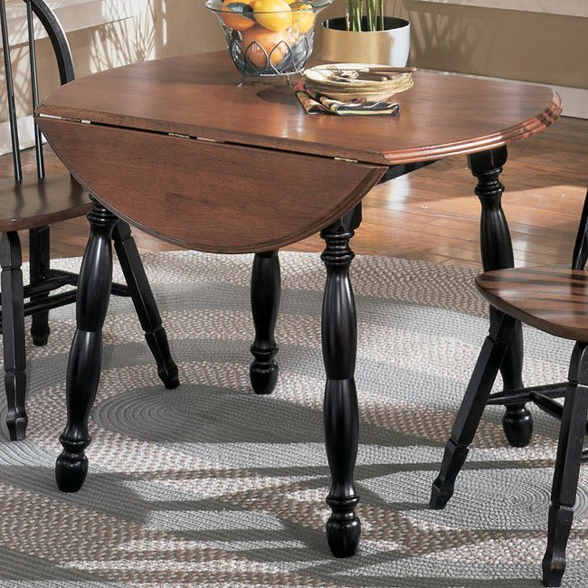 Cedar Heights Round Drop Leaf Table Signature Design By