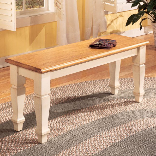 Cottage retreat dining room set with bench signature - Cottage retreat collection bedroom furniture ...