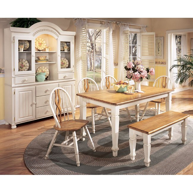 Cottage Dining Room Sets: Cottage Retreat Dining Room Set With Bench Signature