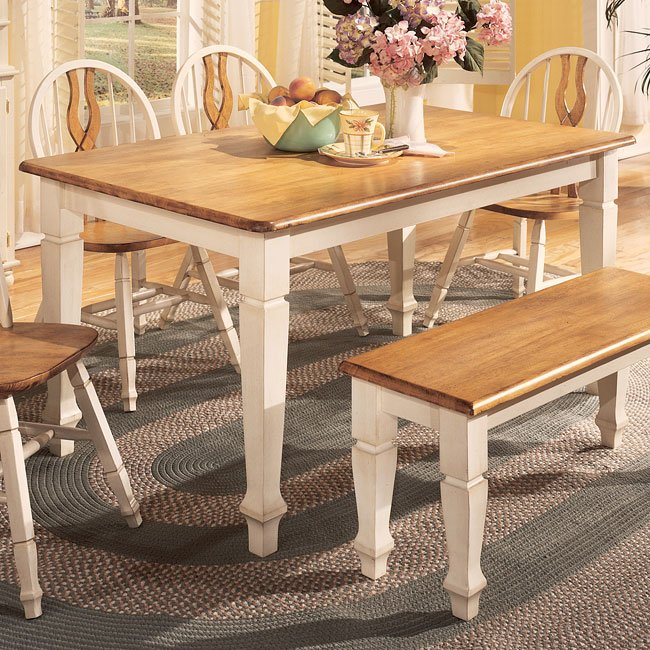 Cottage Retreat Dining Room Set With Bench Signature