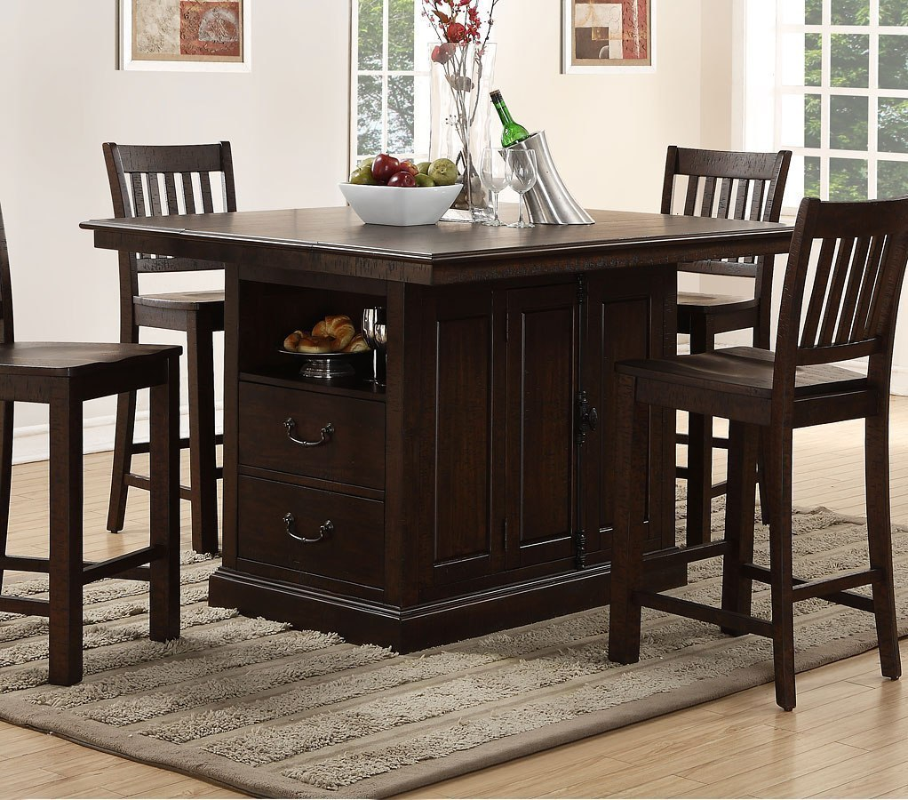 counter height chairs for kitchen island san juan counter height island table new classic furniture furniture cart 2138