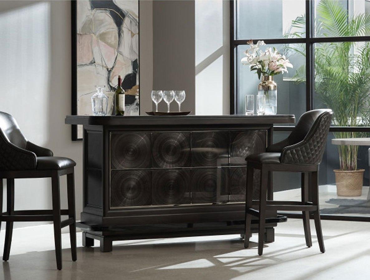 Tru modern spun metal bar set accentrics home furniture cart