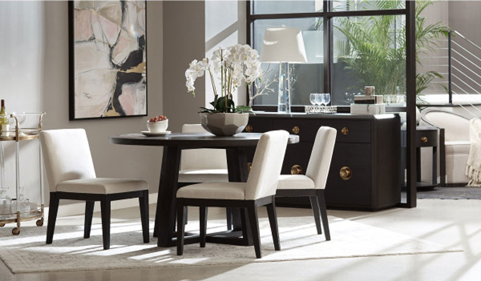 modern round dining room sets | Tru Modern Round Dining Room Set Accentrics Home ...