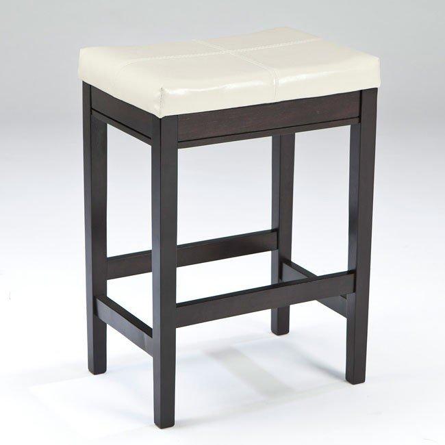 Kimonte Upholstered Barstool (Set of 2) (Ivory)