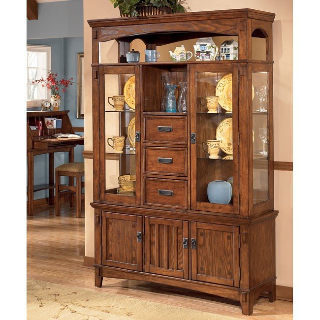 Cross Island Buffet With Hutch Signature Design By Ashley