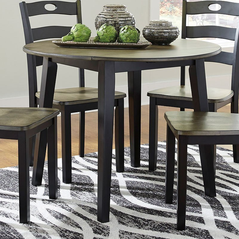 Round Kitchen Table And Chairs Walmart Kitchen Table Sc 1: Froshburg Drop Leaf Dining Table Signature Design