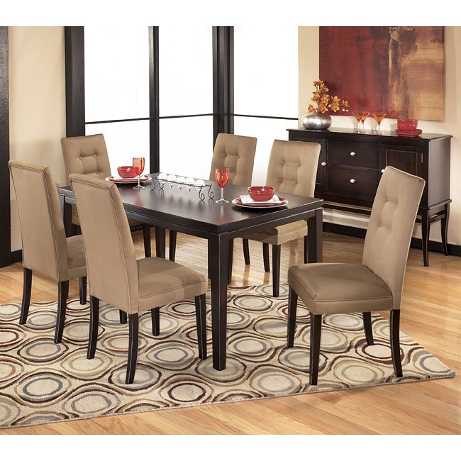 Newbold Wood Dining Room Set With Mocha Chairs Signature Design By Ashley Furniture Cart