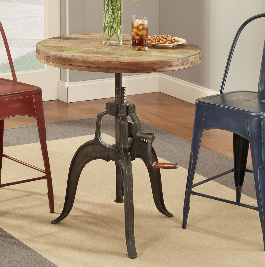 Rustic Collectibles Round Counter Height Table Largo Furniture