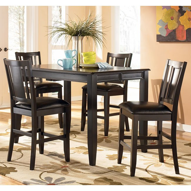 Carlyle Counter Height Dining Room Set Signature Design By Ashley 3 Reviews Furniture Cart