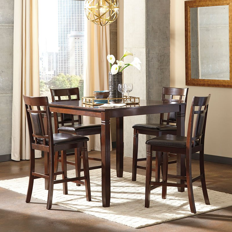 Bennox 5 Piece Counter Height Dining Set