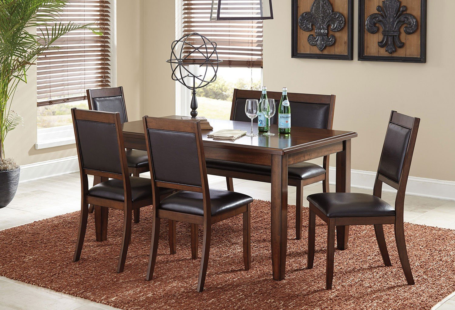 ashley furniture dining set with amazing | Meredy 6-Piece Dining Room Set Signature Design ...
