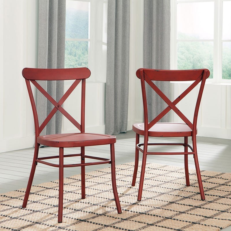 Minnona Side Chair Red Set Of 2 Signature Design