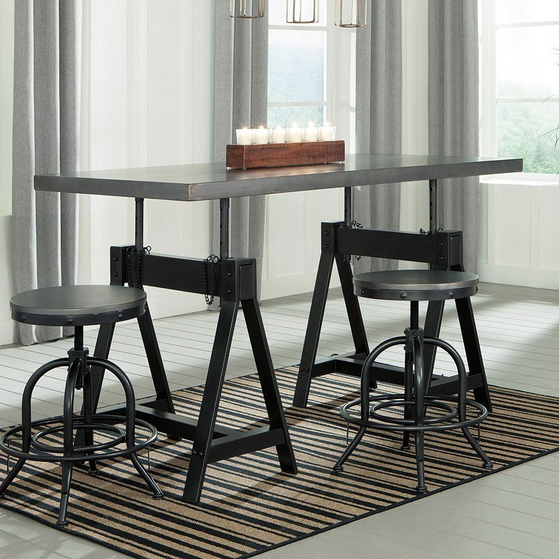 Minnona Adjustable Height Dining Table Signature Design