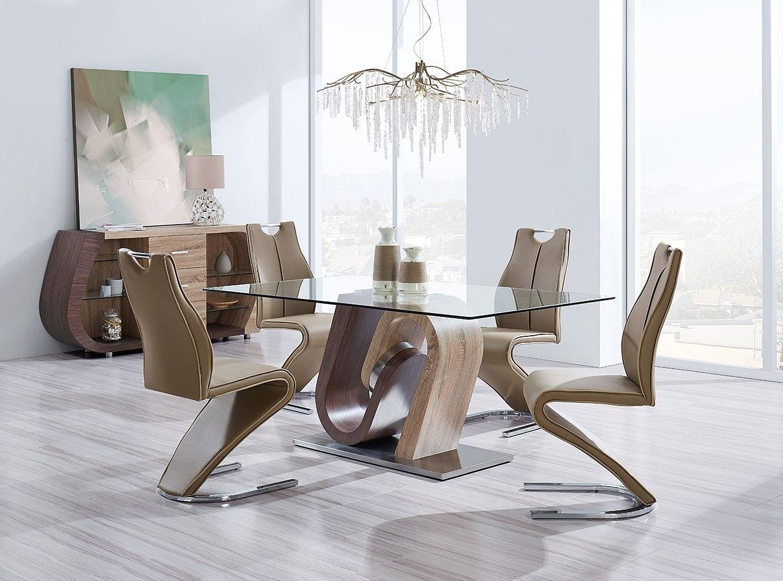 D4126 dining room set oak and walnut