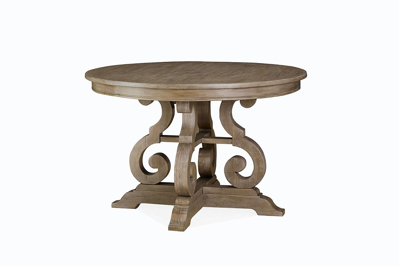 Tinley Park 48 Inch Round Dining Table Magnussen Furniture Cart