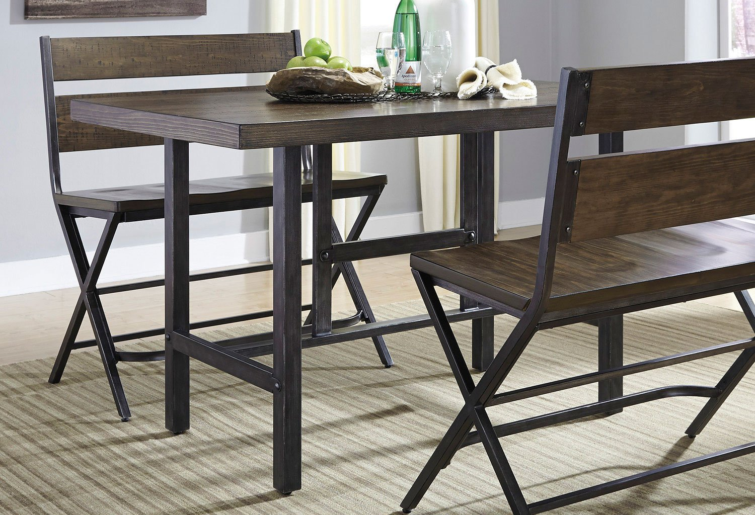 kavara counter height dining table signature design furniture cart. Black Bedroom Furniture Sets. Home Design Ideas