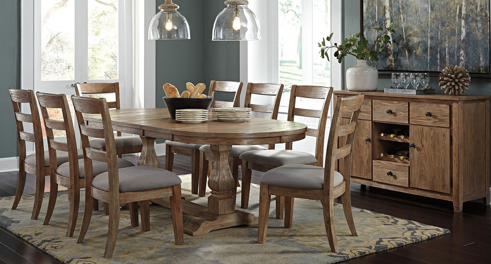 Danimore Oval Dining Room Set
