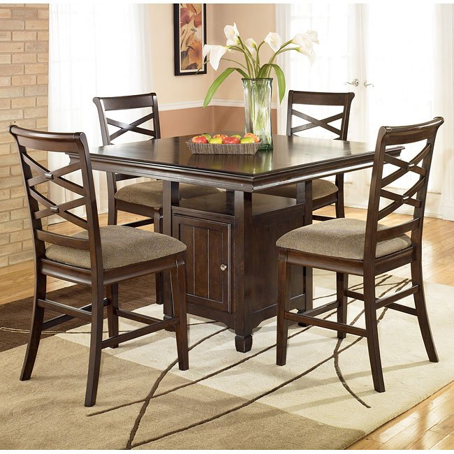 Hayley Counter Height Dining Room Set Signature Design By