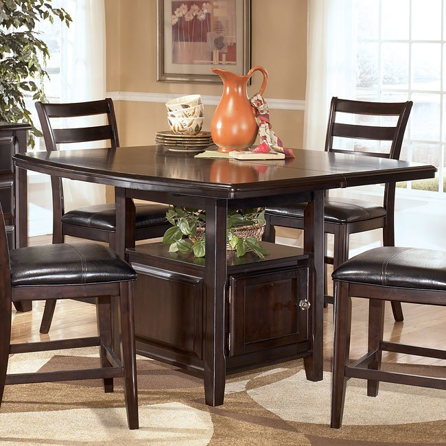 Ridgley Counter Height Table W Storage