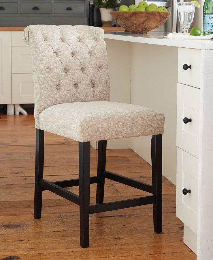 Tripton Linen Upholstered Barstool Set Of 2 Signature