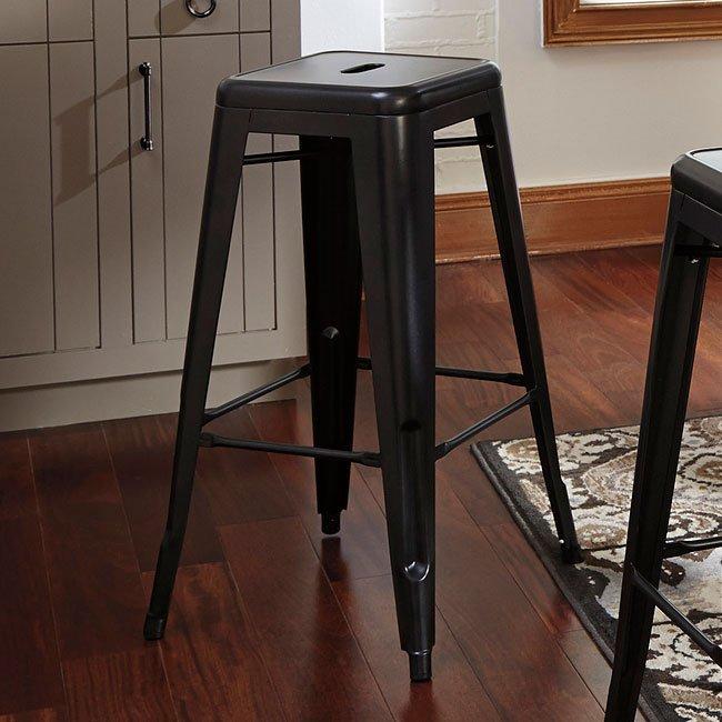 Fabulous Pinnadel Metal Bar Stool Set Of 4 Machost Co Dining Chair Design Ideas Machostcouk