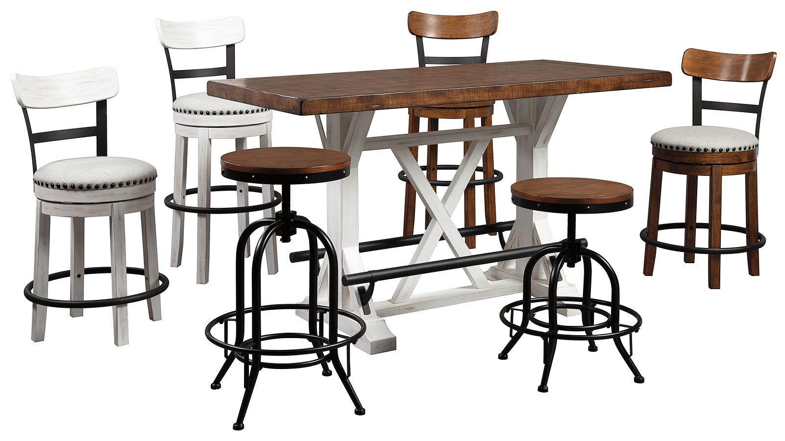 Valebeck Mix And Match Counter Height Dining Set Signature Design Furniture Cart