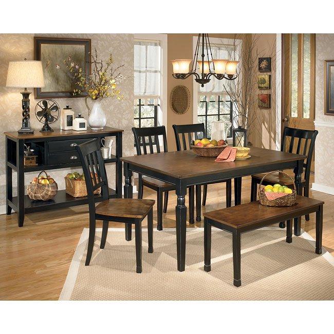 Owingsville Dining Room Set W/ Bench Signature Design
