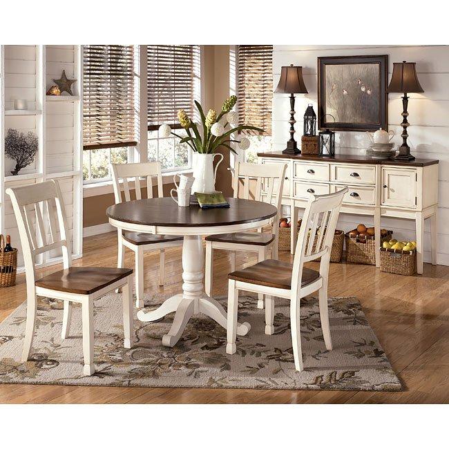 Whitesburg Round Dining Room Set W 2 Chair Choices