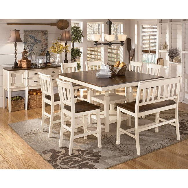 Whitesburg Counter Height Dining Room Set Signature Design ...