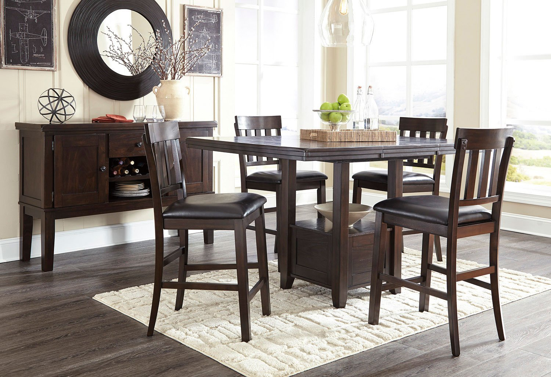 864c3e787acc Haddigan Counter Height Dining Room Set Signature Design Furniture