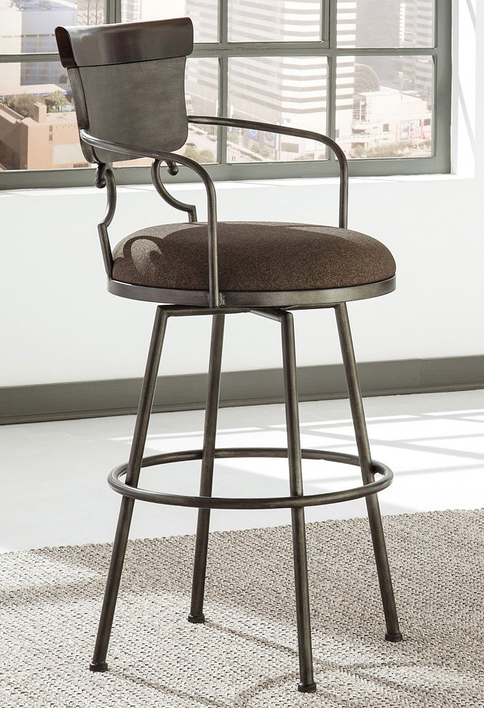 Espresso Saddle Stool 29 Angel Line Cambridge 29 Quot Padded