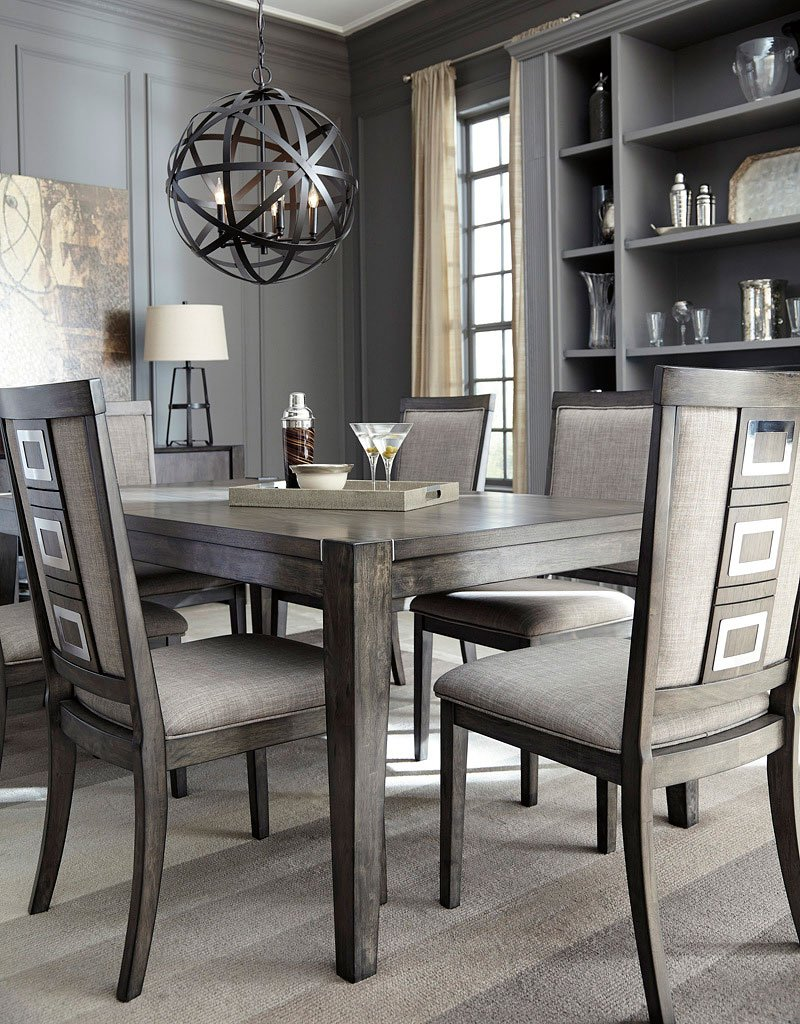 Chadoni Dining Room Set Signature Design Furniture Cart