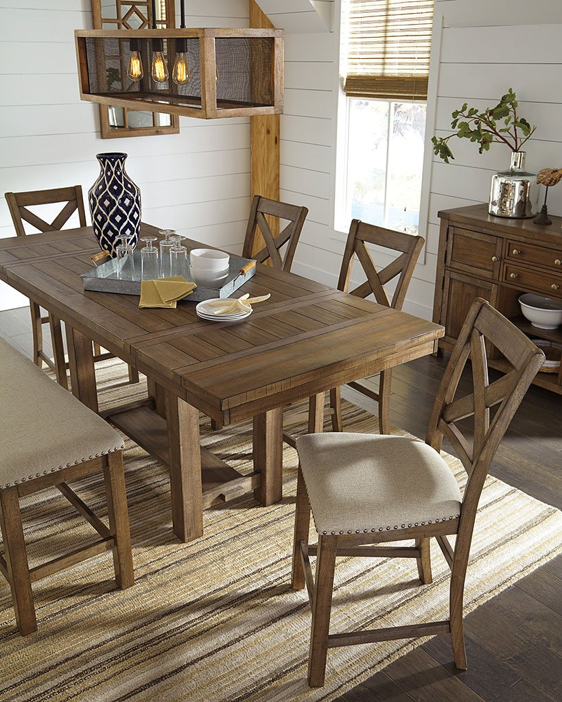 Peachy Moriville Counter Height Dining Set W Bench Ncnpc Chair Design For Home Ncnpcorg