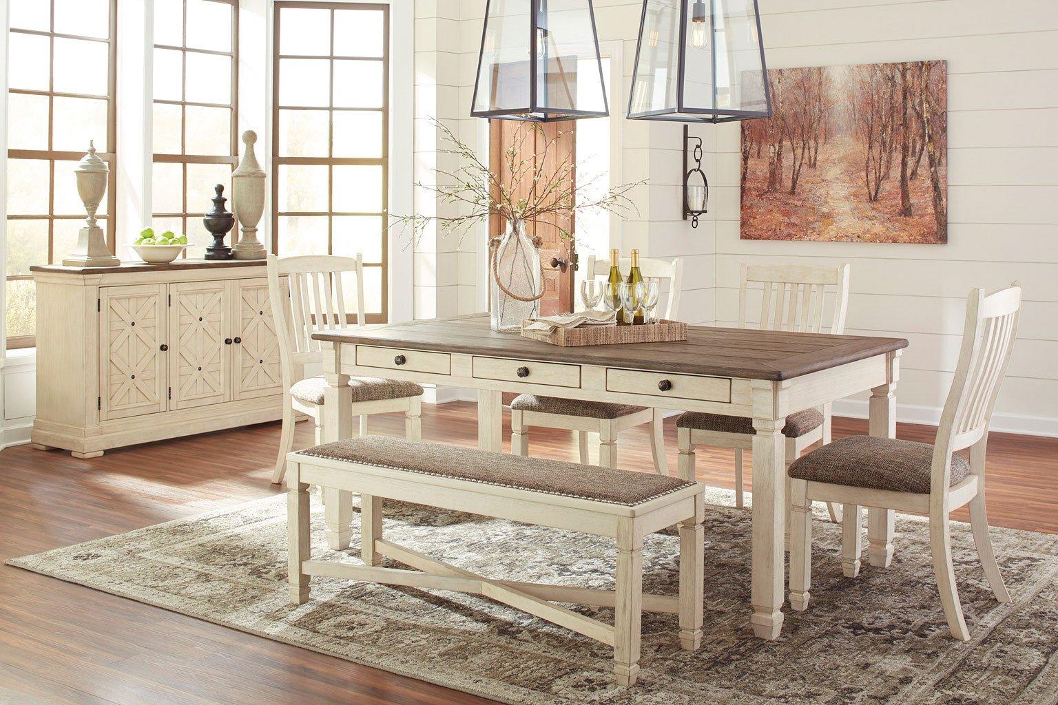 Bolanburg Dining Room Set W Bench Signature Design 3