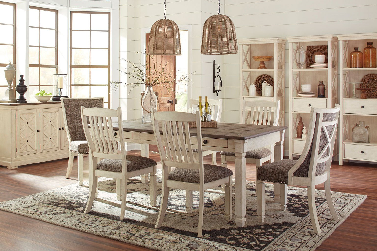 bolanburg dining room set w upholstered chairs signature