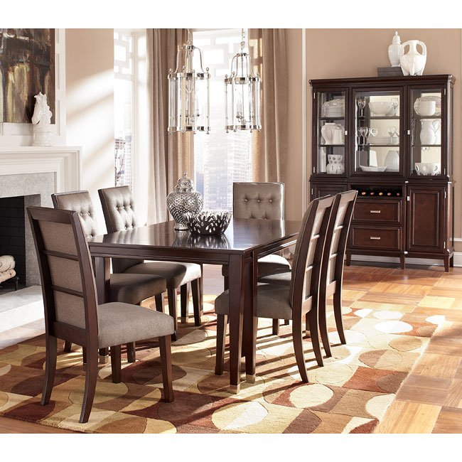 Dining Room Set With Extension larimer dining room set w/ extension table signature design