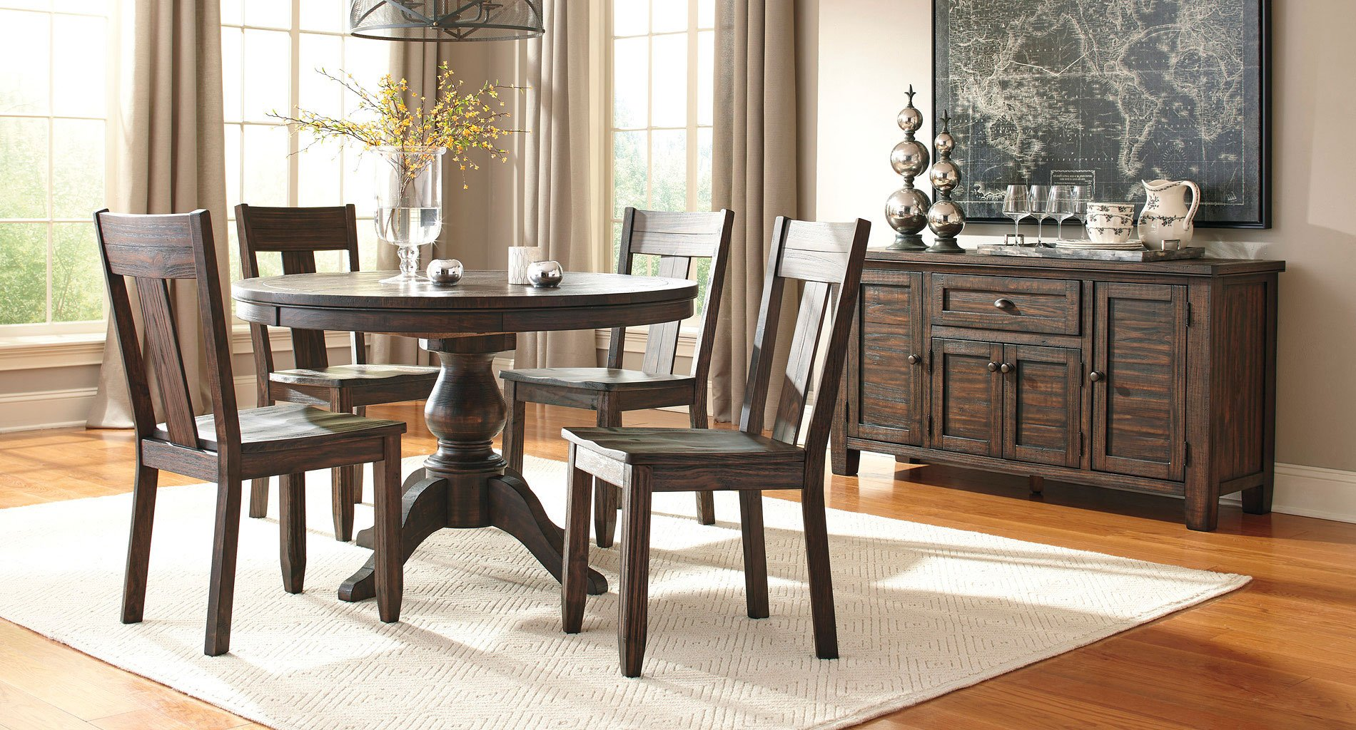 50 Best Dining Room Sets For 2017: Trudell Round Dining Room Set Signature Design, 1 Reviews