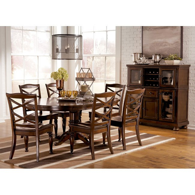 Porter Dining Room Set W Oval Table Millennium