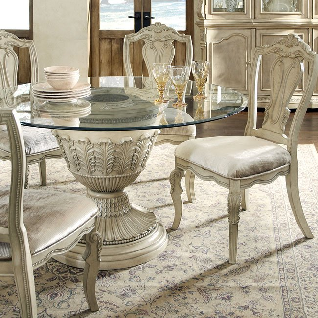 Ortanique Round Pedestal Dining Table Millennium