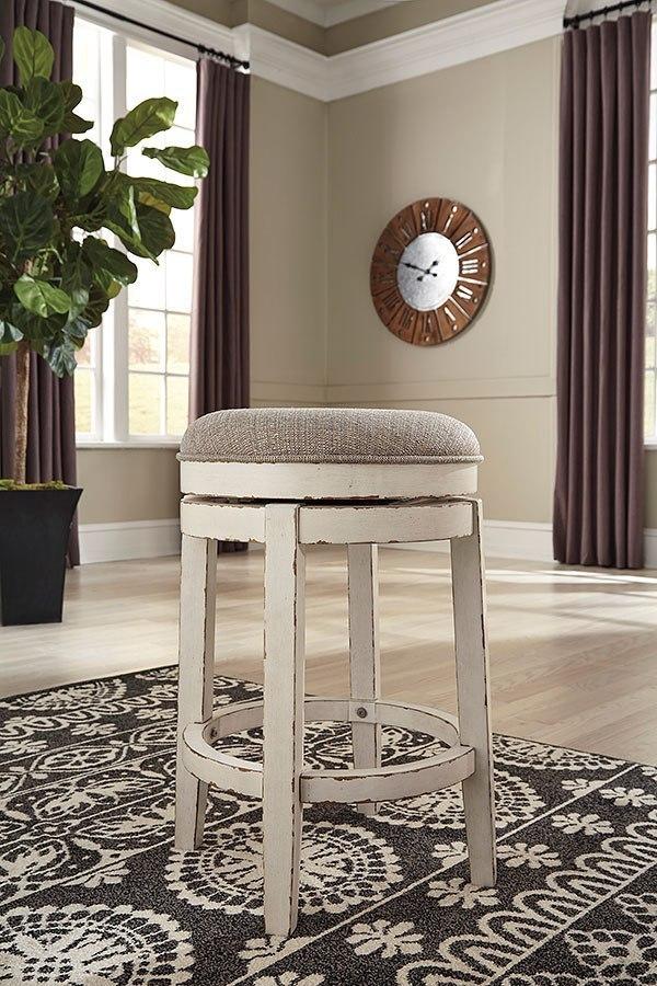 Realyn Swivel Stool Signature Design Furniture Cart