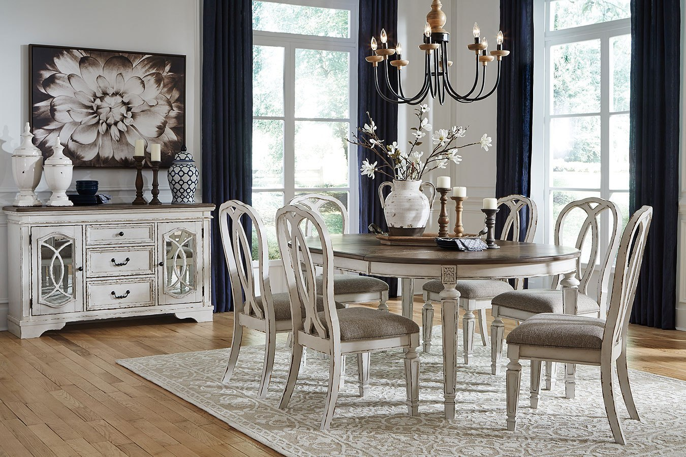 Realyn oval dining room set
