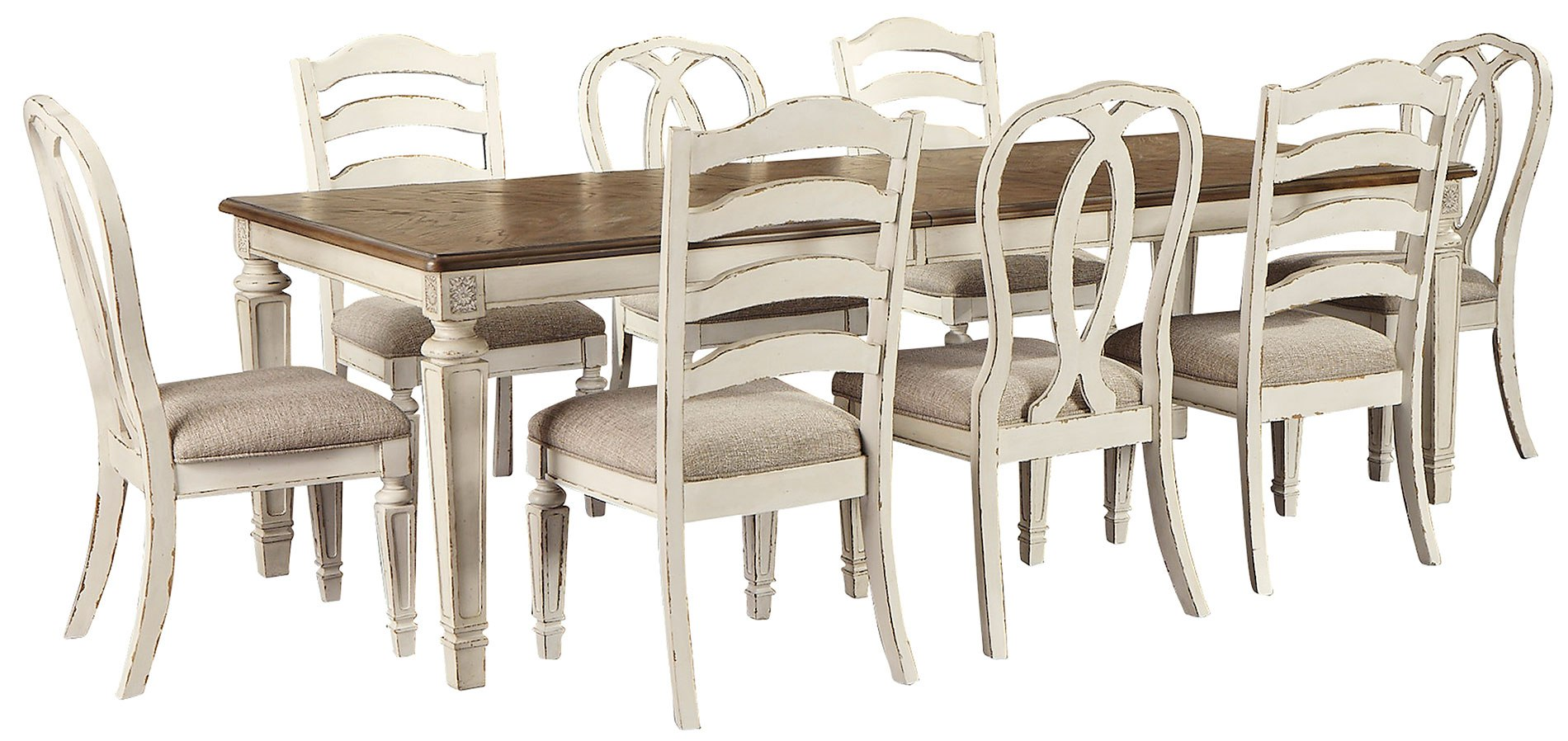 Realyn Dining Room Set W Chair Choices Signature Design Furniture Cart