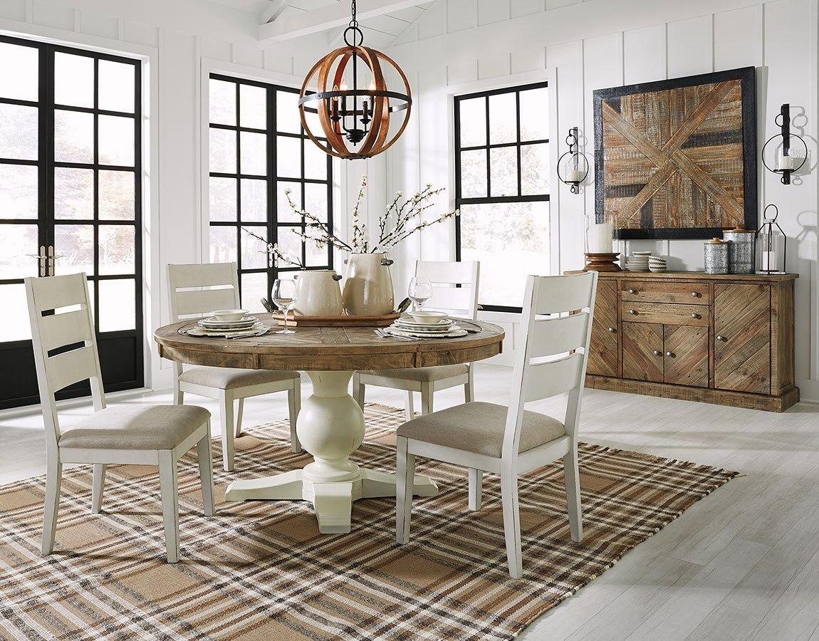 Grindleburg Round Dining Room Set Signature Design ...