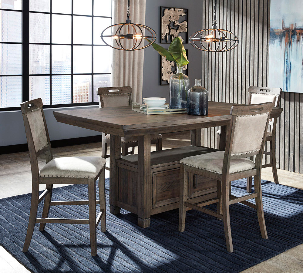 Johurst Counter Height Dining Room Set Signature Design By