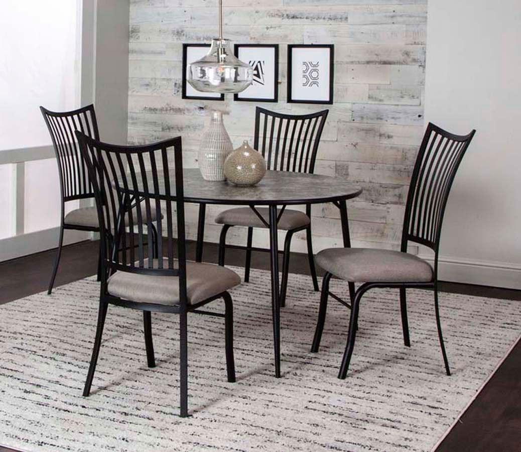 Anna 45 Inch Round Dining Room Set Cramco Furniture Cart