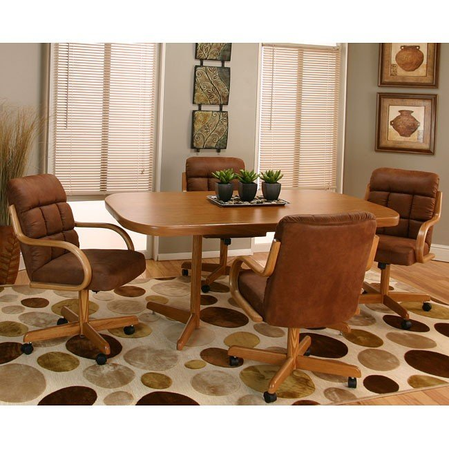 Atwood Dining Room Set with Microsuede Chairs